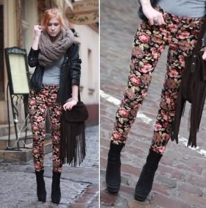 calça-skinny-com-estampa-floral-na-moda-inverno