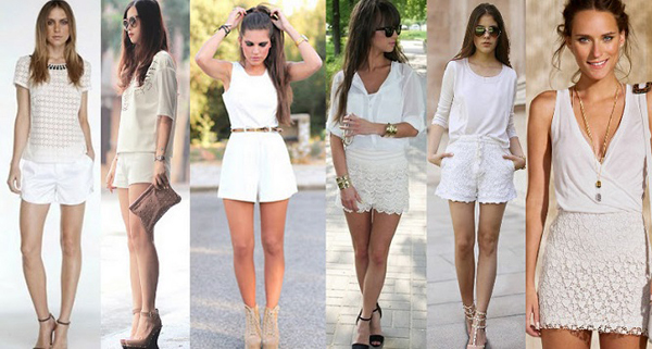 look reveillon shorts