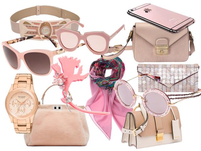 acessórios quartzo rosa