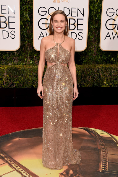 Golden Globe Awards Brie Larson em Calvin Klein