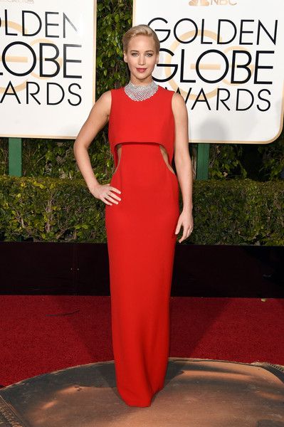Golden Globe Awards Jennifer Lawrence em Dior